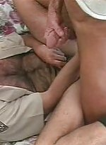 Horny bear hunk hardening meaty cock before pumpin