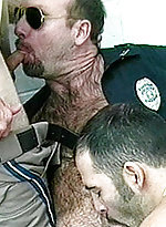 Gay policemen get their hairy asses banged